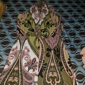 Fashion Nova paisley print jumpsuit